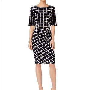 Connected apparel Grid sheath dress